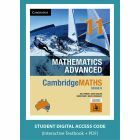 CambridgeMATHS Mathematics Advanced Year 11 interactive textbook (Access Code)