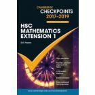 Cambridge Checkpoints HSC Mathematics Extension 1 2017-2019