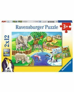Animals In The Zoo 2 x 12 Piece Puzzles (Ages 3+)