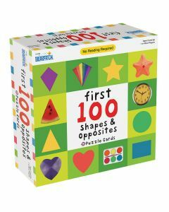 First 100 Shapes & Opposites Puzzle Cards - 01339 (Ages 2+)