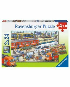 Busy Train Station 2 x 24 Piece Puzzles (Ages 4+)