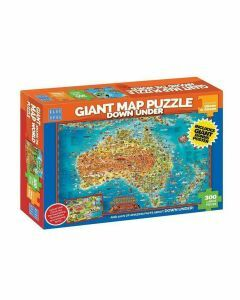 Giant Map 300 Piece Puzzle - Down Under (Ages 9+)