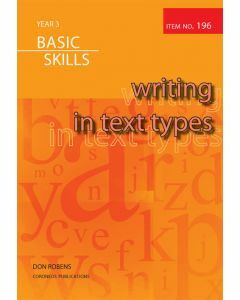Writing in Text Types Year 3 (Item no. 196)