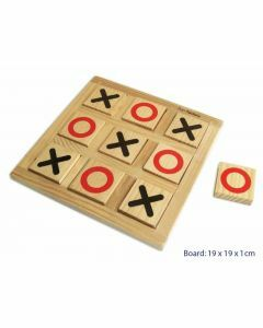 Noughts and Crosses Wooden Game (Ages 3+)