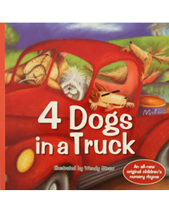 4 Dogs in a Truck