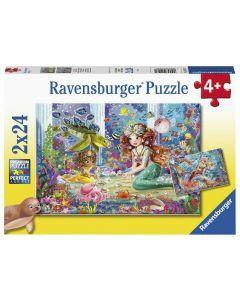 Mermaid Tea Party 2 x 24 Piece Puzzle (Ages 4+)