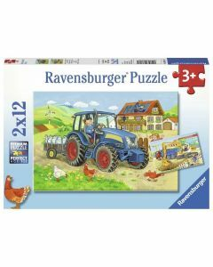 Hard at Work 2 x 12 Piece Puzzles (Ages 3+)
