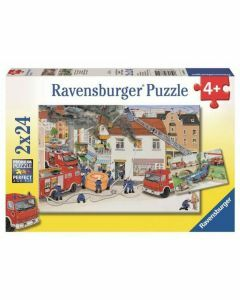 Busy Fire Brigade 2 x 24 Piece Puzzles (Ages 4+)