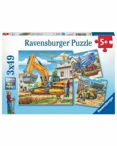 Construction Vehicle 3 x 49 Piece Puzzles (Ages 5+)