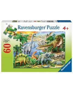 Prehistoric Life 60 Piece Puzzle (Ages 4+)