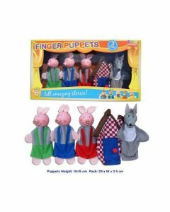 Three Little Pigs 5 Piece Finger Puppets (Ages 3+)