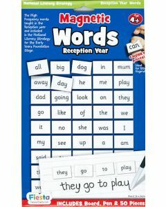 Magnetic Words for Reception Year / Ages 4+ (Board, Pen & 50 Pieces)