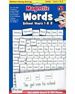 Magnetic Words for Years 1 & 2 / Ages 5-7 (Board + 159 Pieces)