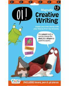 Oi! Magnetic Creative Writing - Board, Pen & 48 pieces (Ages 4-8)