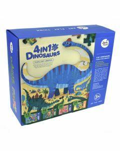 4-in-1 Dinosaur Puzzle and Luminous - JA90640 (Ages 3+)