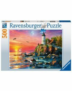 Lighthouse at Sunset 500 Piece Puzzle (Ages 10+)