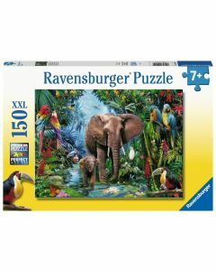 Elephants at the Oasis 150 Piece Puzzle (Ages 7+)