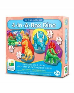 My First Puzzle Sets 4-In-A-Box: Dino (Ages 2+)
