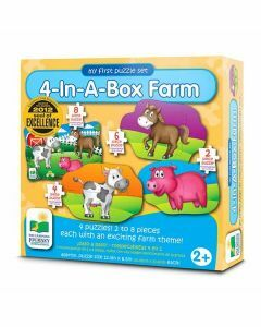 My First Puzzle Sets 4-In-A-Box: Farm (Ages 2+)