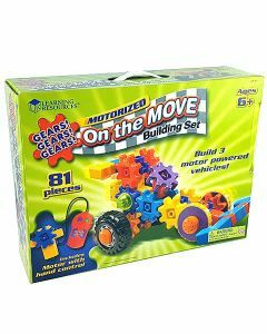 Gears! Gears! Gears! Motorized On the Move Building Set (Ages 6+)