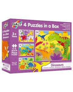 4 Puzzles in a Box: Dinosaurs (Ages 3+)