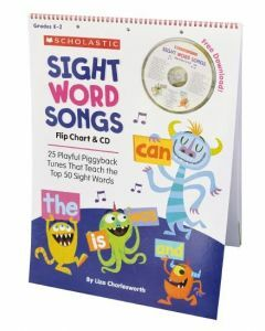 Sight Word Songs Flip Chart & CD (Ages 3-8)