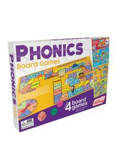 Phonics Board Games 4-in-1 (Ages 4+)