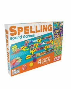 Spelling Board Games 4-in-1 (Ages 5+)
