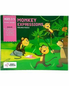 Monkey Expressions - Feelings Puzzle (Ages 3-5)