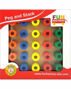 Peg and Stack Wooden Puzzle (Ages 3+)