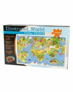 Illustrated World 1100 Piece Puzzle (Ages 12+)