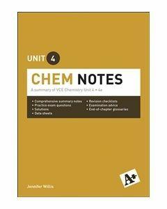 A+ Chemistry Notes VCE Unit 4