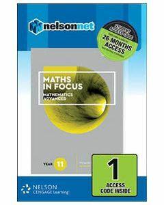 Maths in Focus Advanced Year 11 (1 Access Code)