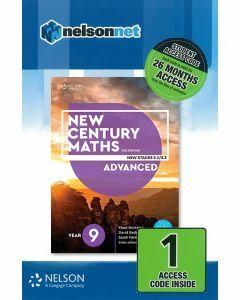 New Century Maths 9 Advanced 2e Access Code (26-month)