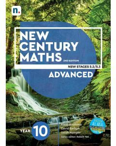 [Pre-order] New Century Maths 10 Advanced 2e Student Book with 1 Access Code [Due mid-2021]