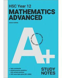 [Pre-order] A+ HSC Year 12 Mathematics Advanced Study Notes [Due Jul 2021]