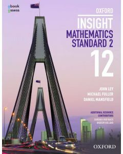 Oxford Insight Mathematics Standard 2 Year 12 Student book + obook assess