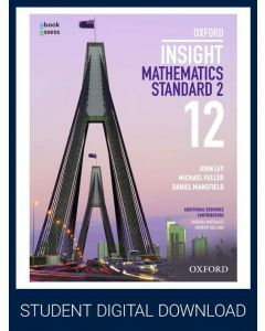 Oxford Insight Mathematics Standard 2 Year 12 Student obook assess (1 Access Code)