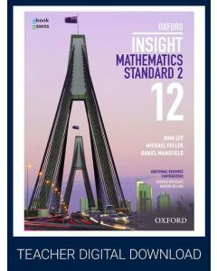 Oxford Insight Mathematics Standard 2 Year 12 Teacher obook assess (Teacher access code)