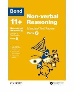 Bond 11+: Non-verbal Reasoning: Standard Test Papers Pack 2