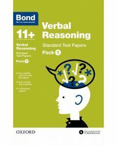 Bond 11+: Verbal Reasoning: Standard Test Papers Pack 1