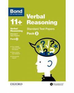 Bond 11+: Verbal Reasoning: Standard Test Papers Pack 2