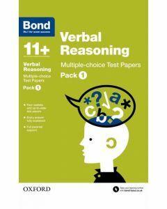 Bond 11+: Verbal Reasoning: Multiple-choice Test Papers Pack 1