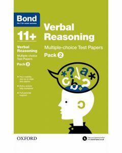Bond 11+: Verbal Reasoning: Multiple-choice Test Papers Pack 2