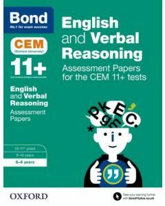 Bond 11+: English and Verbal Reasoning: Assessment Papers for CEM for 8 to 9 years