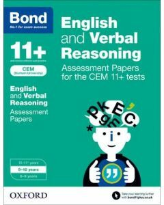 Bond 11+: English and Verbal Reasoning: Assessment Papers for CEM for 9 to 10 years