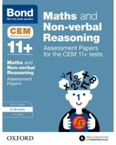 Bond 11+: Maths and Non-verbal Reasoning: Assessment Papers for CEM for 9 to 10 years