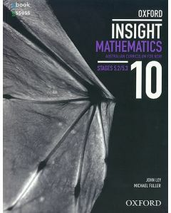 Oxford Insight Mathematics 10 5.2/5.3 AC for NSW Student Book + oBk/as