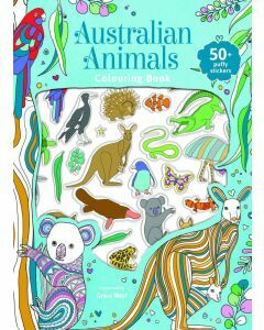 Australian Animals - Puffy Sticker Colouring & Activity Book (Ages 3+)