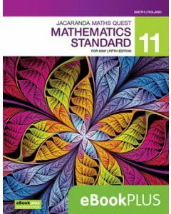 Jacaranda Maths Quest 11 Mathematics Standard 5E eBookPLUS (Access Code)